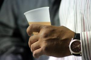 Male Hand Holding Drink (1)